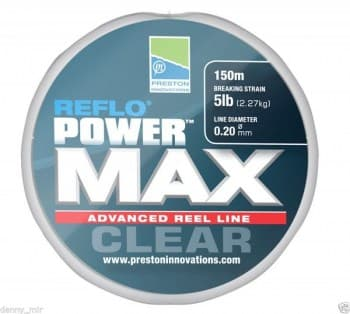 REFLO POWER MAX CLEAR REEL LINE - 8lb (0.26mm)